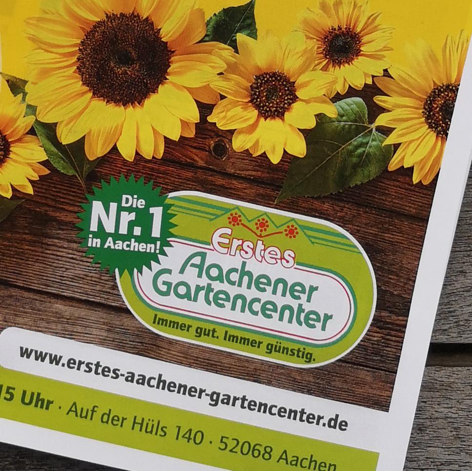 Gestaltung Anzeige Erstes Aachener Gartencenter