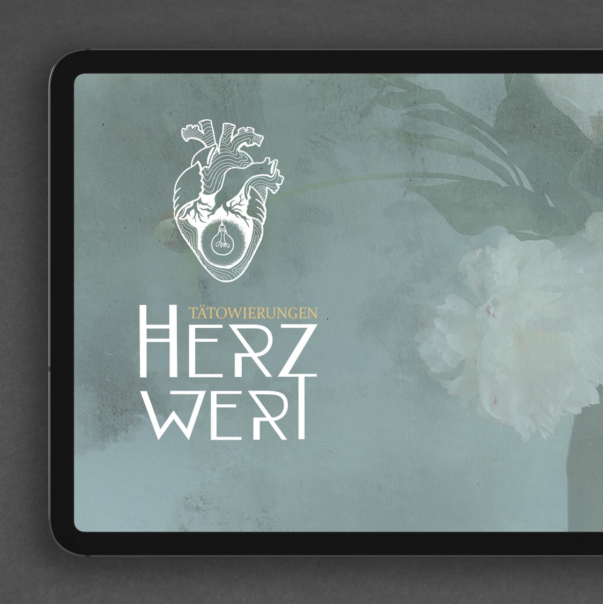 Webdesign Startseite Herzwert Tätowierungen