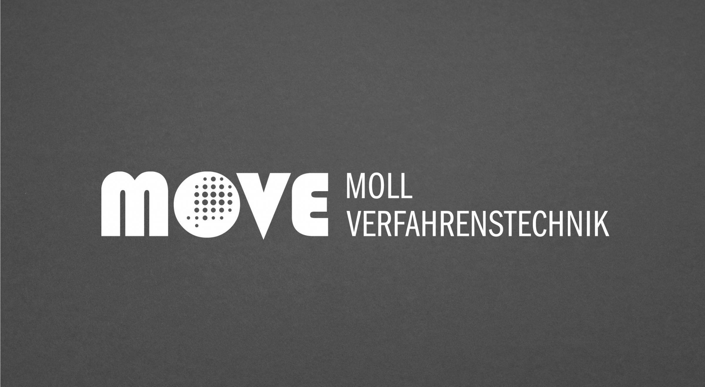 Moll Verfahrenstechnik Logogestaltung horizontale Anordnung