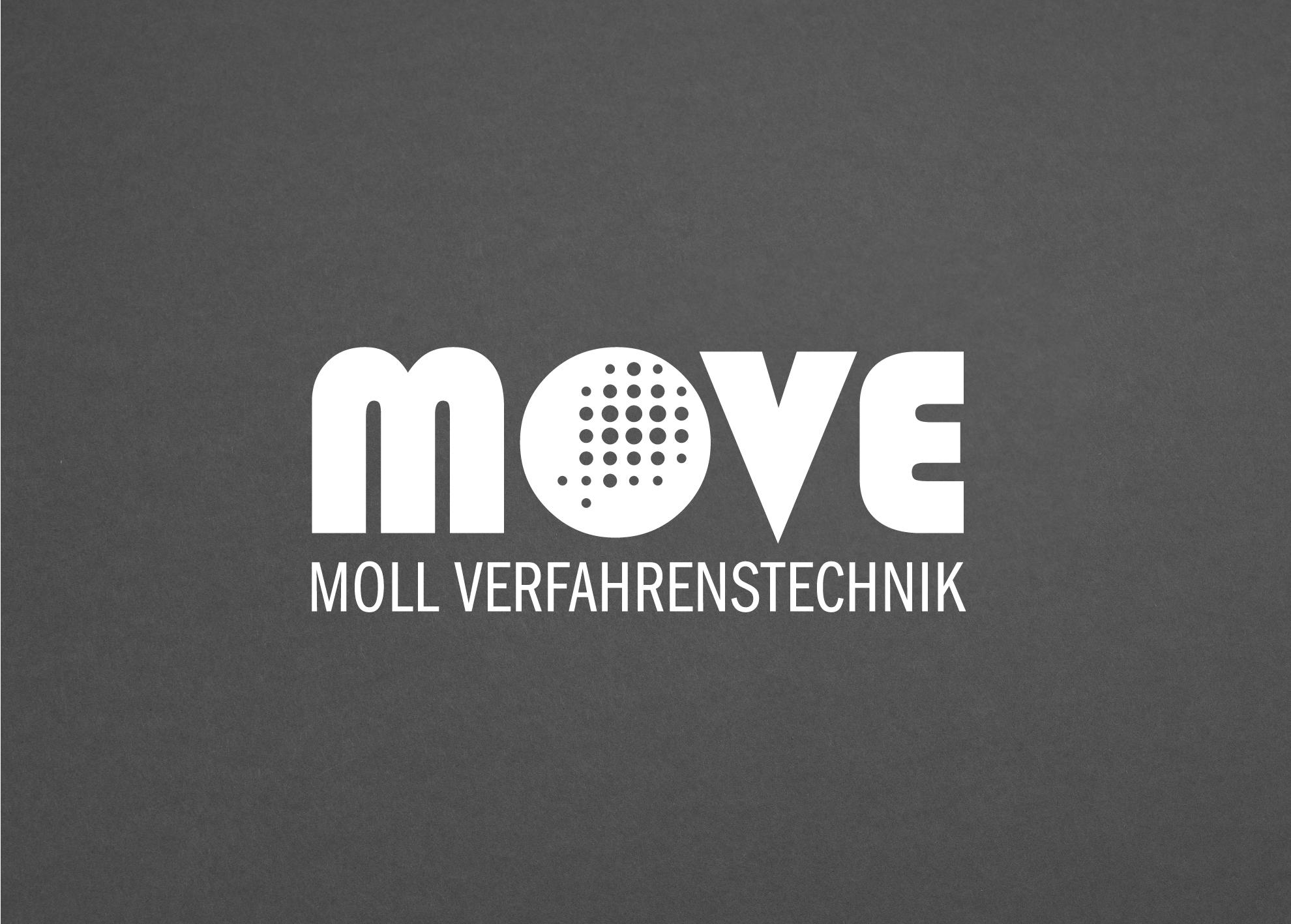 Moll Verfahrenstechnik Logogestaltung vertikale Anordnung