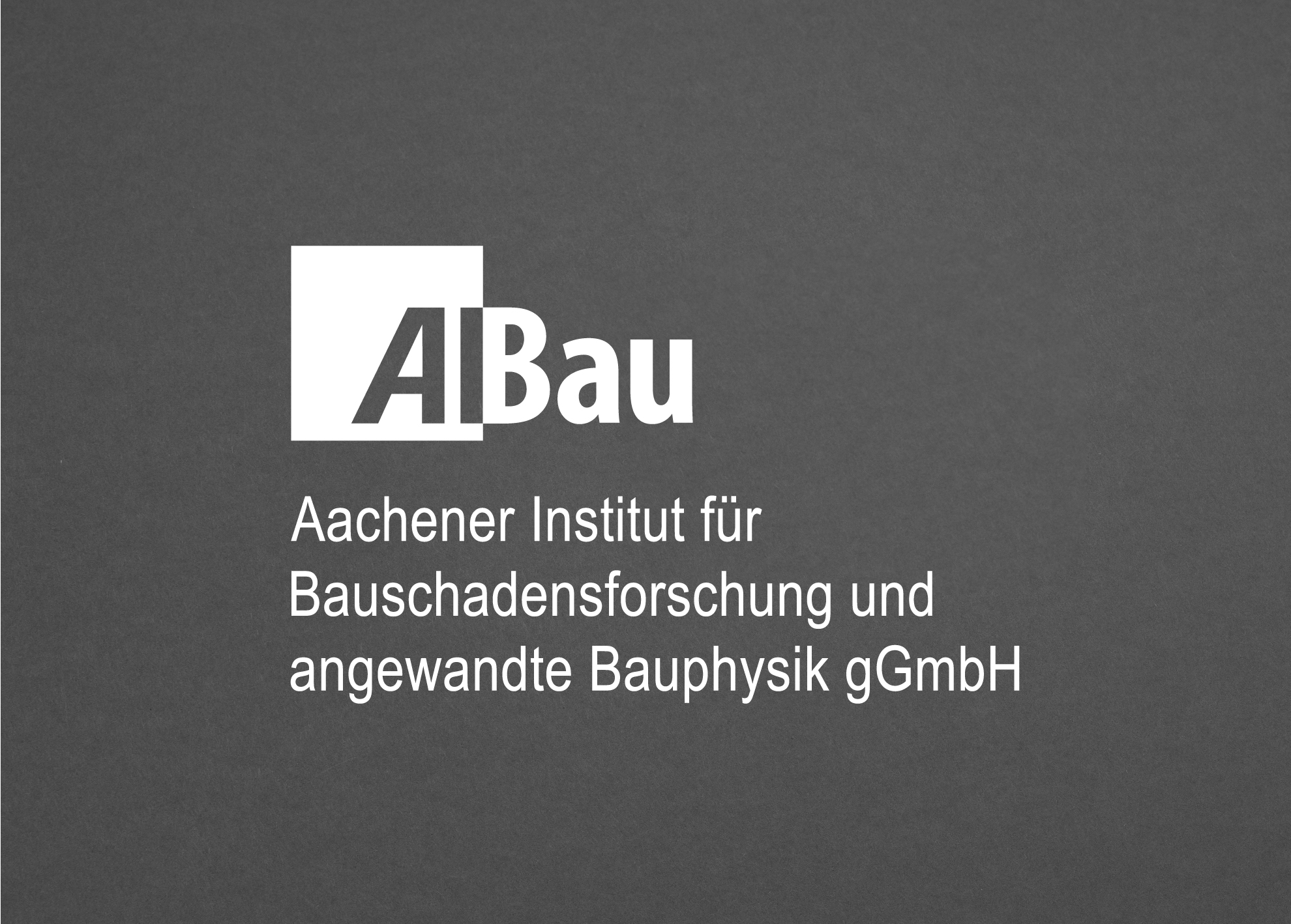 Logo Gestaltung AIBau Aachen vertikale Anordnung