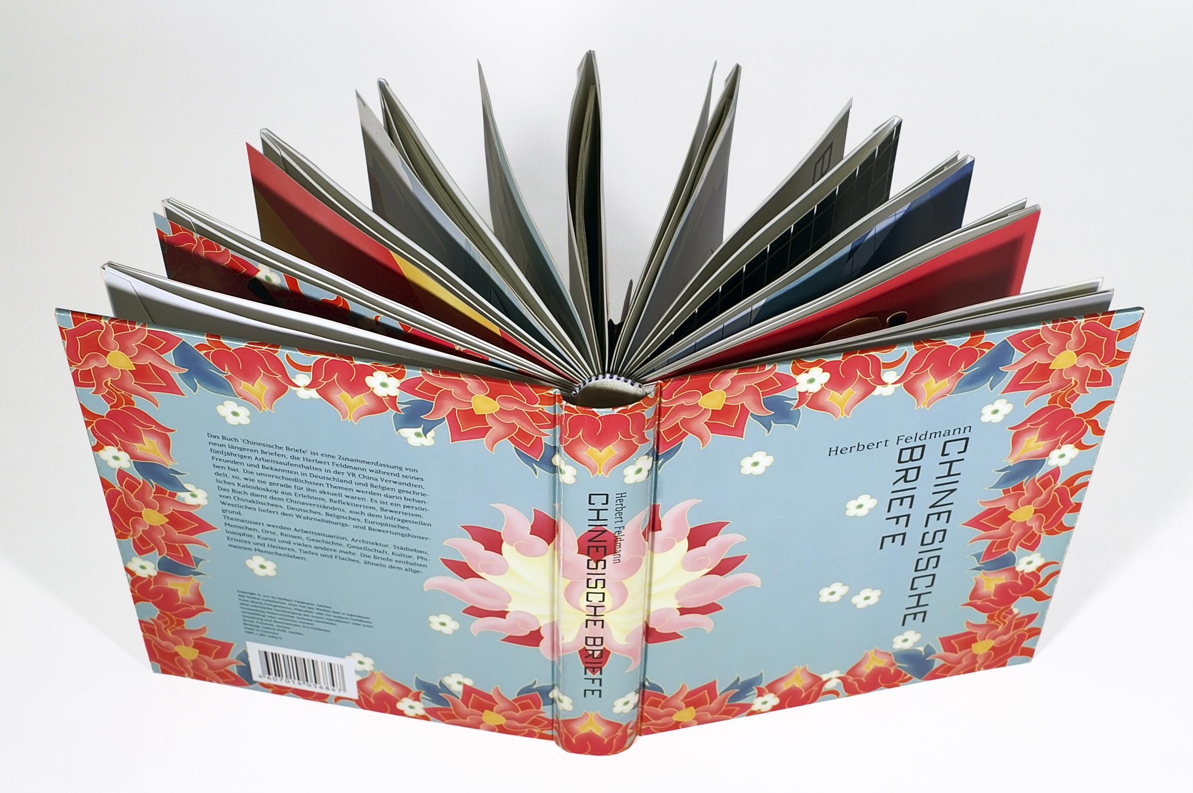 Popup Buch Illustration Chinesische Briefe