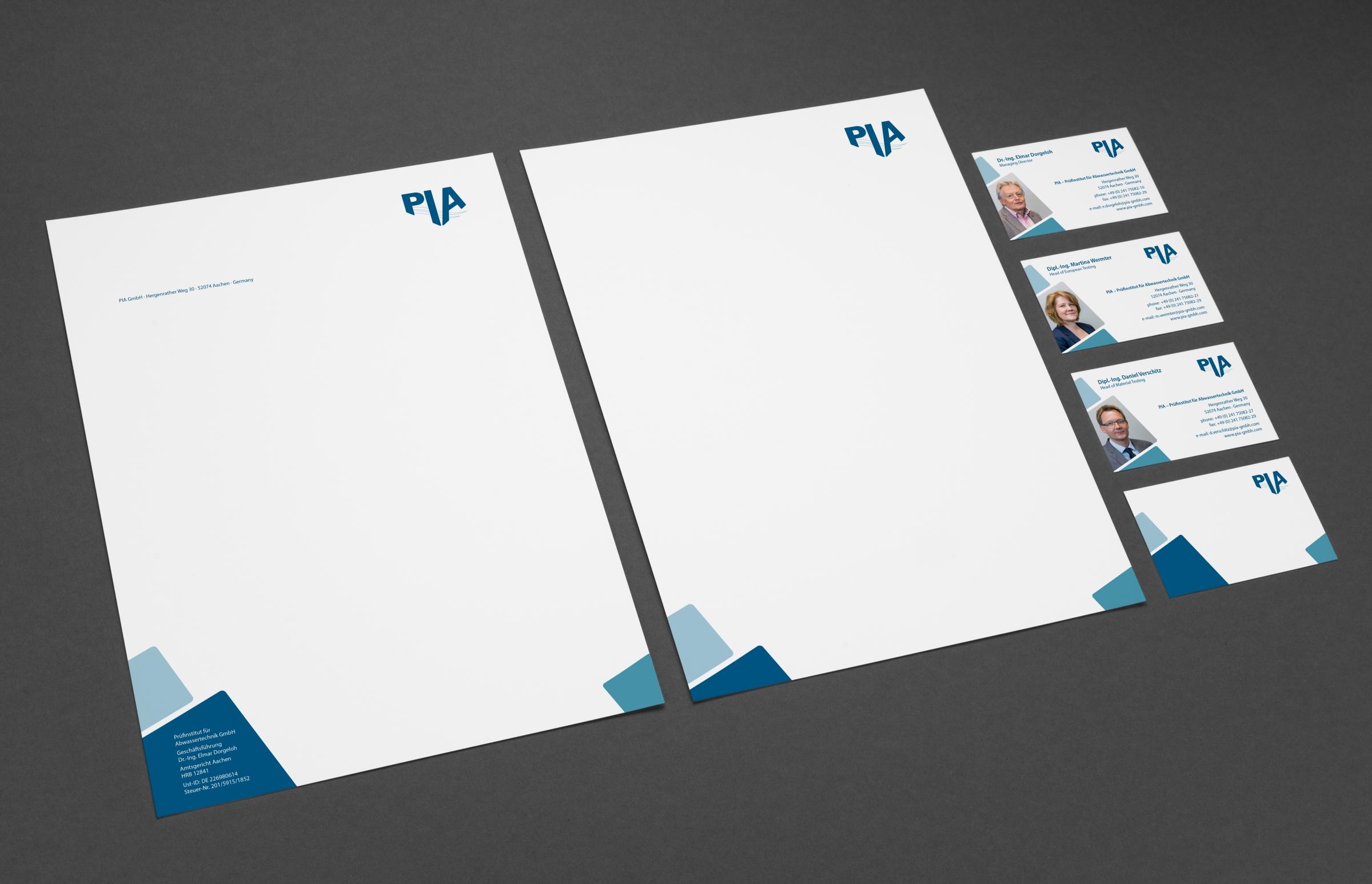 PIA Aachen Corporate Design