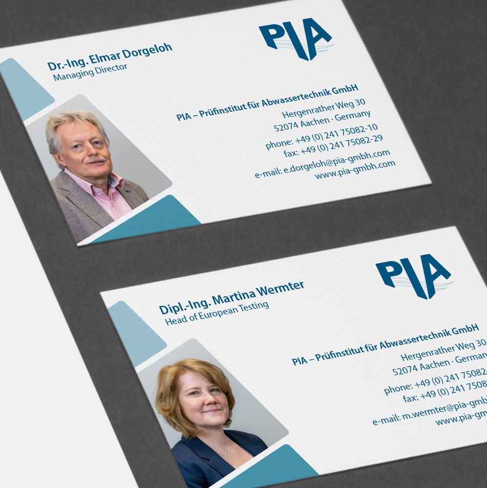 PIA GmbH Aachen Visitenkarte