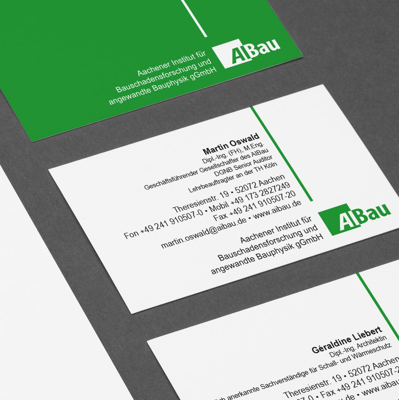 AiBau Aachen Visitenkartengestaltung
