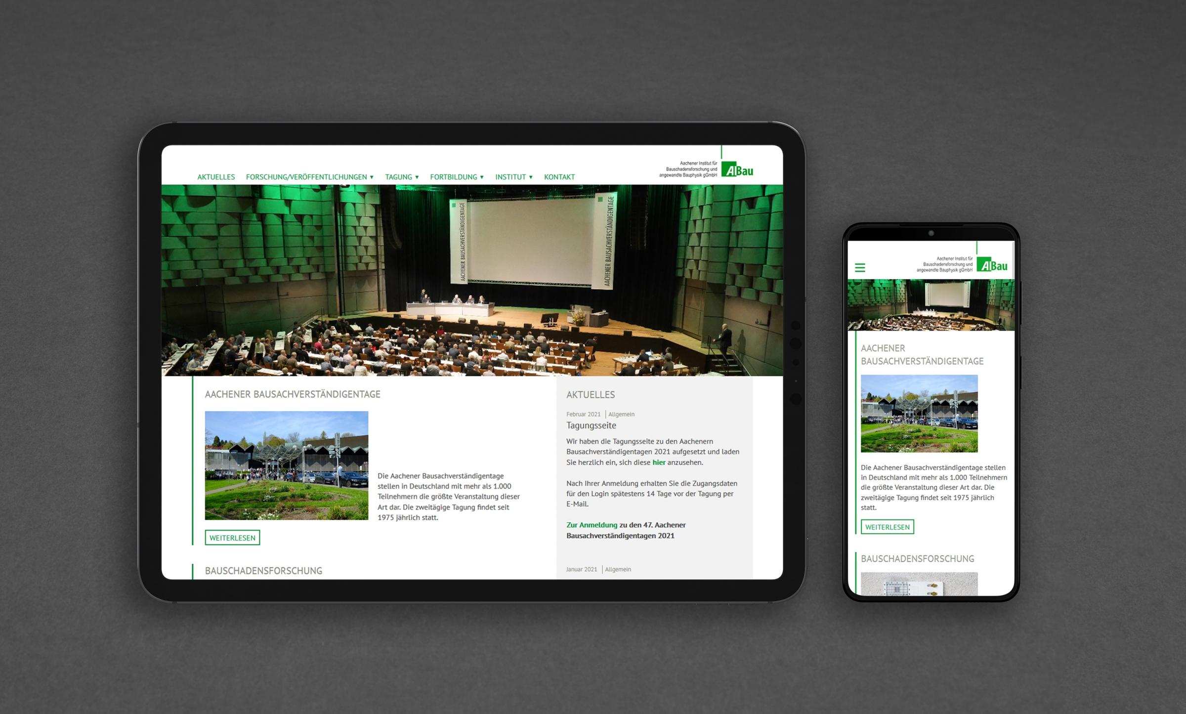 AIBau Aachen Webdesign responsiv