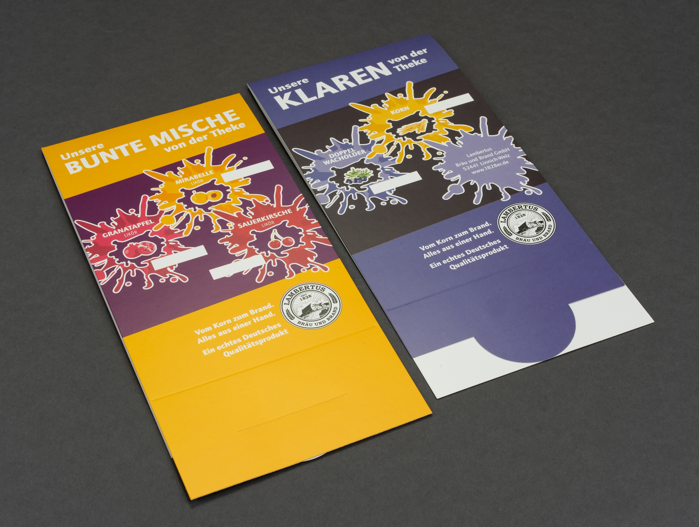 Gestaltung Aufsteller Partyliköre - Lambertus Bräu & Brand