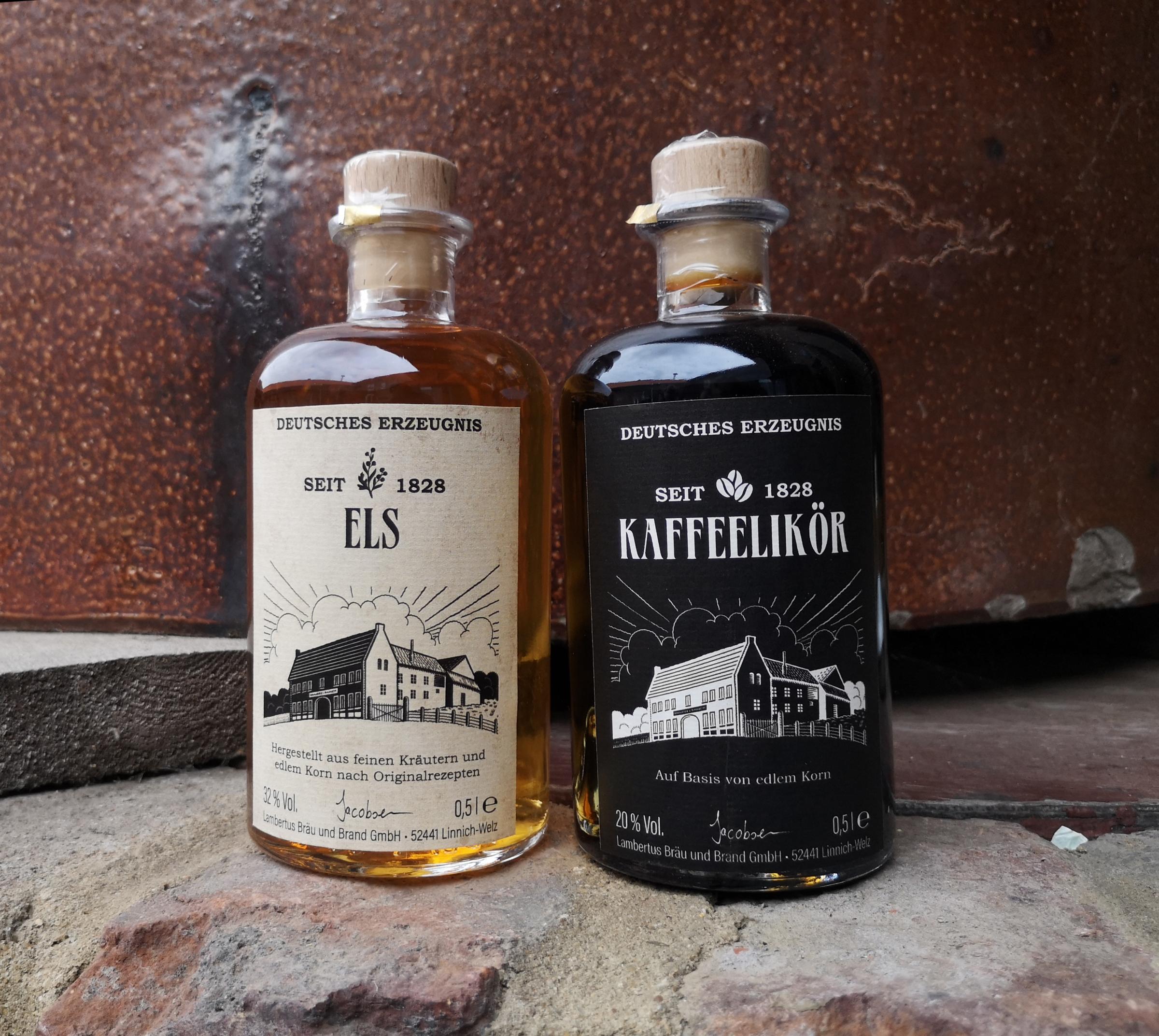 Etikettengestaltung Liköre Feinschmeckerlinie - Lambertus