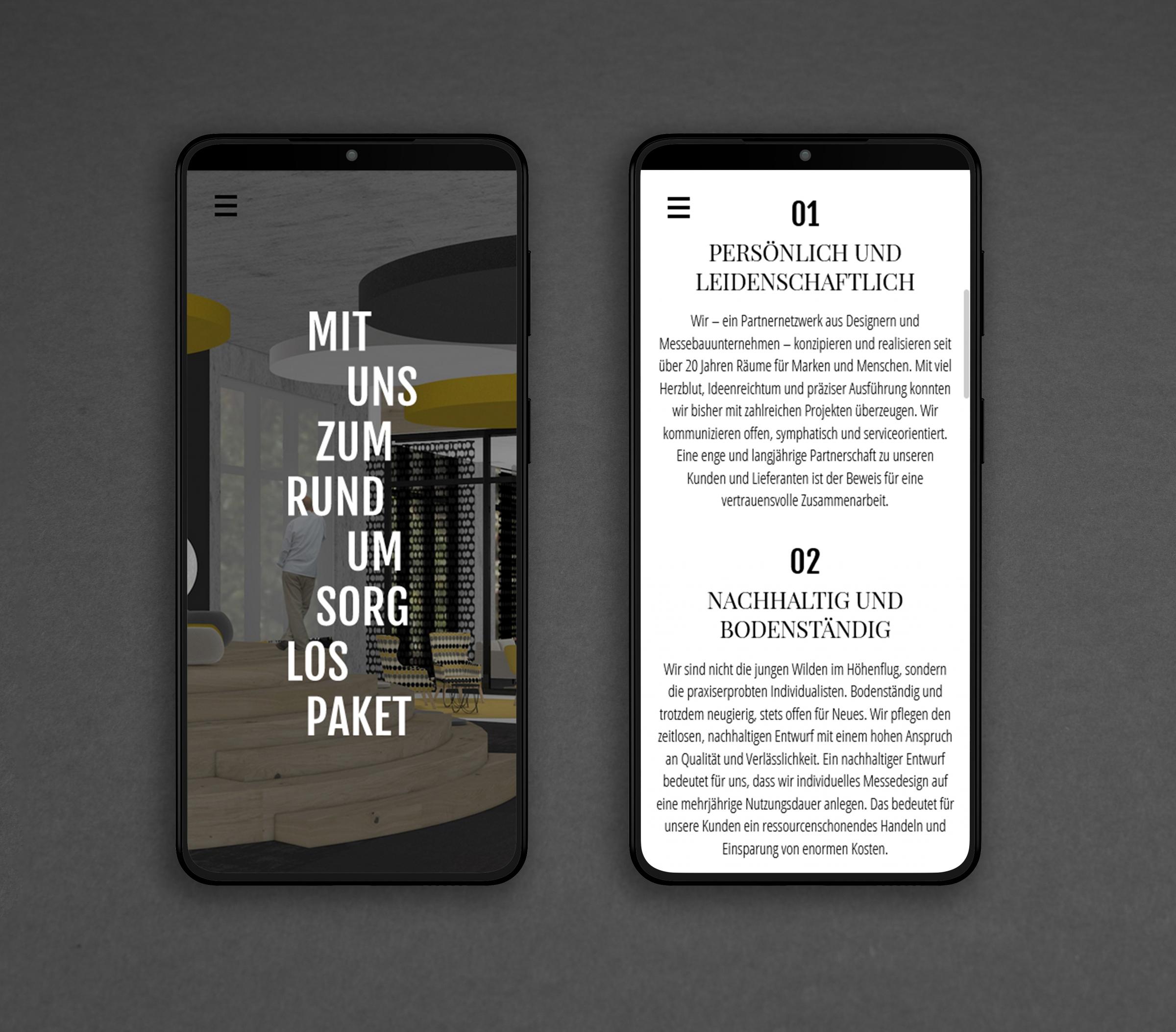 Webdesign Programmierung FORMHOCHDREI Smartphone